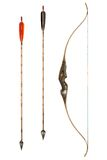 Bow and arrows classic Stock Photography