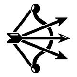 Bow and arrows equipment icon, simple style Royalty Free Stock Photography