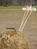 Bow and arrows. Royalty Free Stock Images