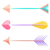 Bow arrows. Vector. Bow arrows Vector love  heart Stock Image