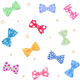 Bow background. Illustration seamless background bow tie bright different colors Royalty Free Stock Photos