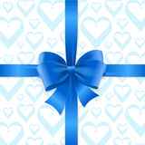 Bow Background Heart. Vector Royalty Free Stock Images