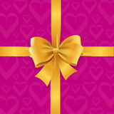 Bow Background Heart. Vector Stock Photo