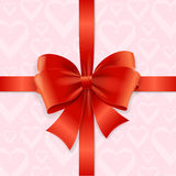 Bow Background Heart. Vector Stock Image