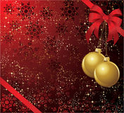 Bow with balls. The  illustration contains the image of christmas background Stock Image