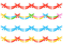 Bow-Banner for decoration Stock Images