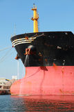 Bow of big industrial cargo ship Stock Photography