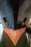 Bow of a big ship Stock Images