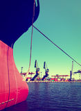 Bow of a big ship Royalty Free Stock Photos