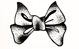 Bow in a black and white Stock Photo