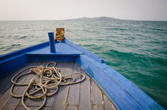 bow of a blue boat Royalty Free Stock Photo