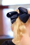 Blue hair bow Royalty Free Stock Photos