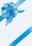 Bow of blue curve, vector Stock Photo