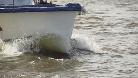 The bow of boat slow motion stock video footage
