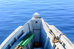 Bow of the boat with the star. Stock Images
