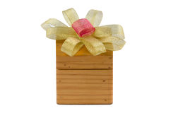 Bow and box Royalty Free Stock Photography