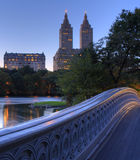 Bow bridge. At sunset in New York's Central Park Stock Photography