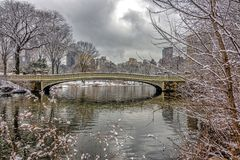 Bow bridge Central Park Royalty Free Stock Images