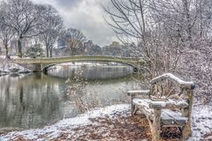 Bow bridge Central Park royalty free stock photos