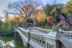 Bow bridge Central Park Stock Photo