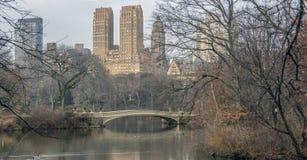 Bow bridge Central Park Royalty Free Stock Image