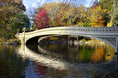 Bow Bridge in Central Park in Fall Royalty Free Stock Photos