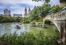 Bow Bridge in Central Park,New York Stock Photo
