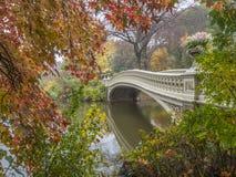 Bow bridge,Central Park, New York Cit stock images
