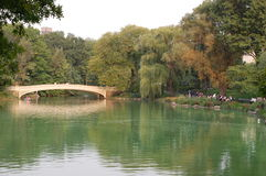 Bow Bridge in Central Park, New York City Stock Images