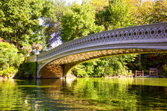 Bow Bridge in Central Park Royalty Free Stock Images