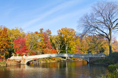 Bow Bridge in Central Park, New York City Stock Image