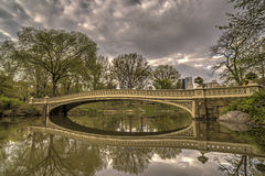 Bow bridge in Central Park, New York City Royalty Free Stock Photos