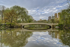 Bow bridge in Central Park, New York City Stock Photos