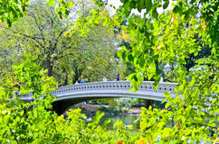 Bow Bridge at Central Park in New York City Royalty Free Stock Photo