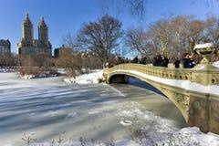Bow Bridge - Central Park, New York Stock Photography