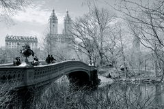 Bow bridge Central Park NYC Royalty Free Stock Images