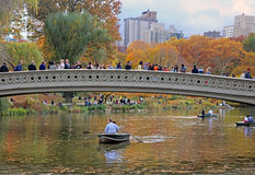 Bow Bridge In Central Park Stock Image
