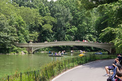Bow Bridge Central Park in Winter Royalty Free Stock Images