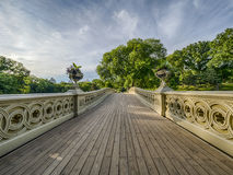 Bow bridge in early morning Stock Photography