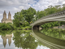 Bow bridge in early summer Royalty Free Stock Images