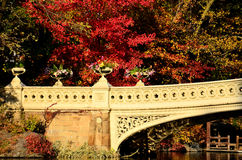 Bow Bridge in Fall Royalty Free Stock Image