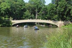 Bow Bridge, the most romantic bridge in Central Park New York stock image