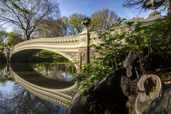 Bow bridge in spring Central Park Royalty Free Stock Photography