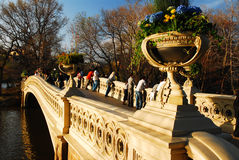 Bow Bridge in Spring, Central Park Royalty Free Stock Photo