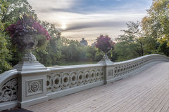 Bow bridge in summer Royalty Free Stock Image