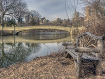 Bow bridge in winter Stock Photography