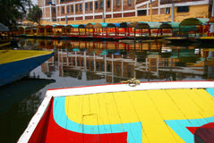 Bow of brightly colored boat royalty free stock image