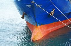 A bow of bulk cargo ship Stock Photo