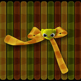 Bow with button face Stock Photos