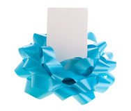 Bow with card Stock Image
